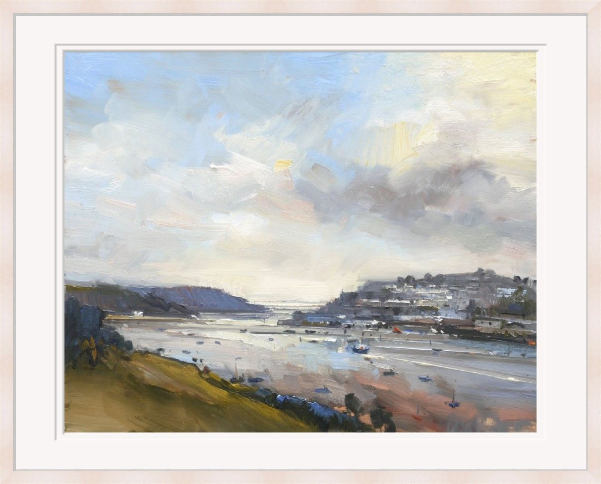 View to the Sea in Autumn, Salcombe by David Atkins