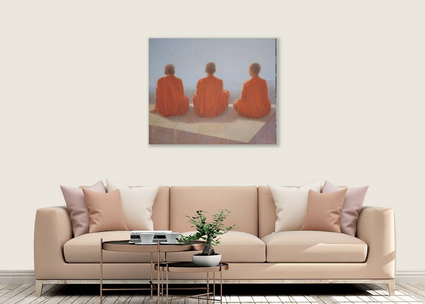 Three Monks by Lincoln Seligman