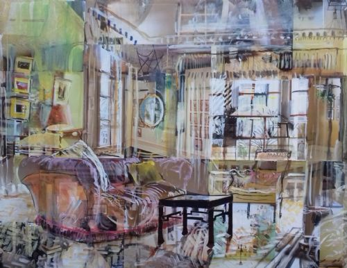 Alison Pullen - West Horsley Place, Morning Room (mirror)