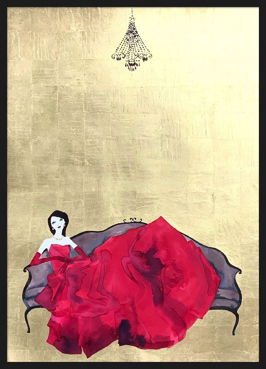 At Home in My Red Dress by Bridget Davies