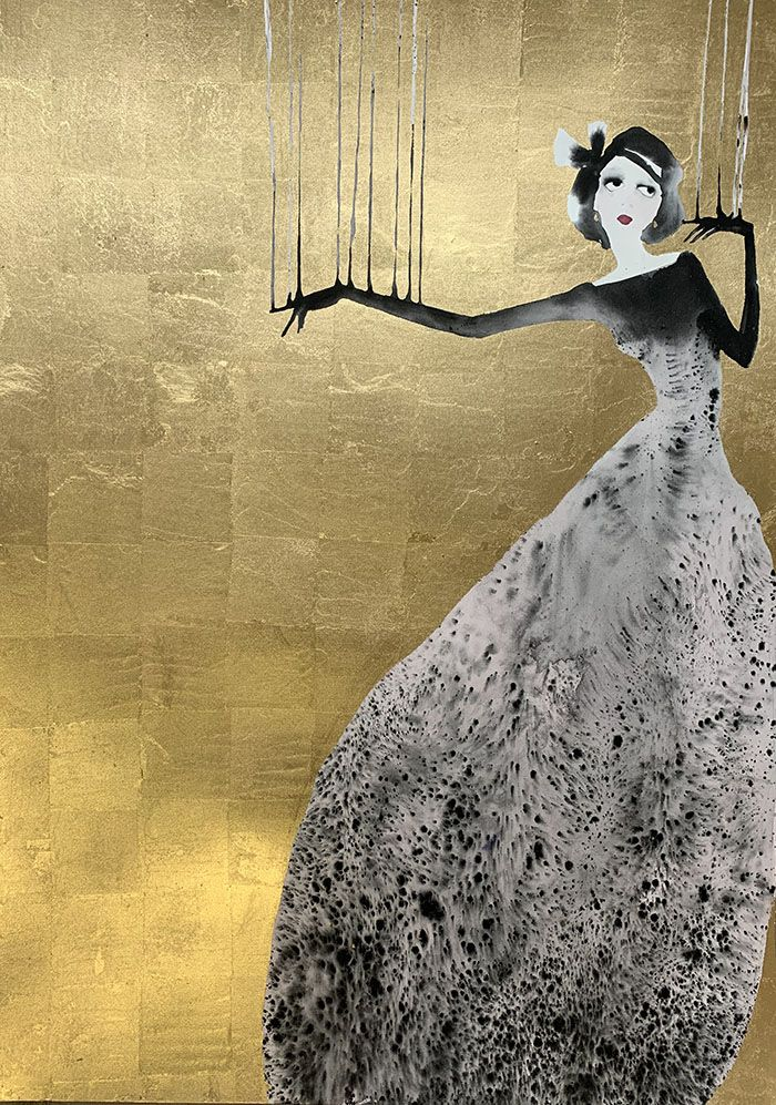 Highly Strung in Gold by Bridget Davies