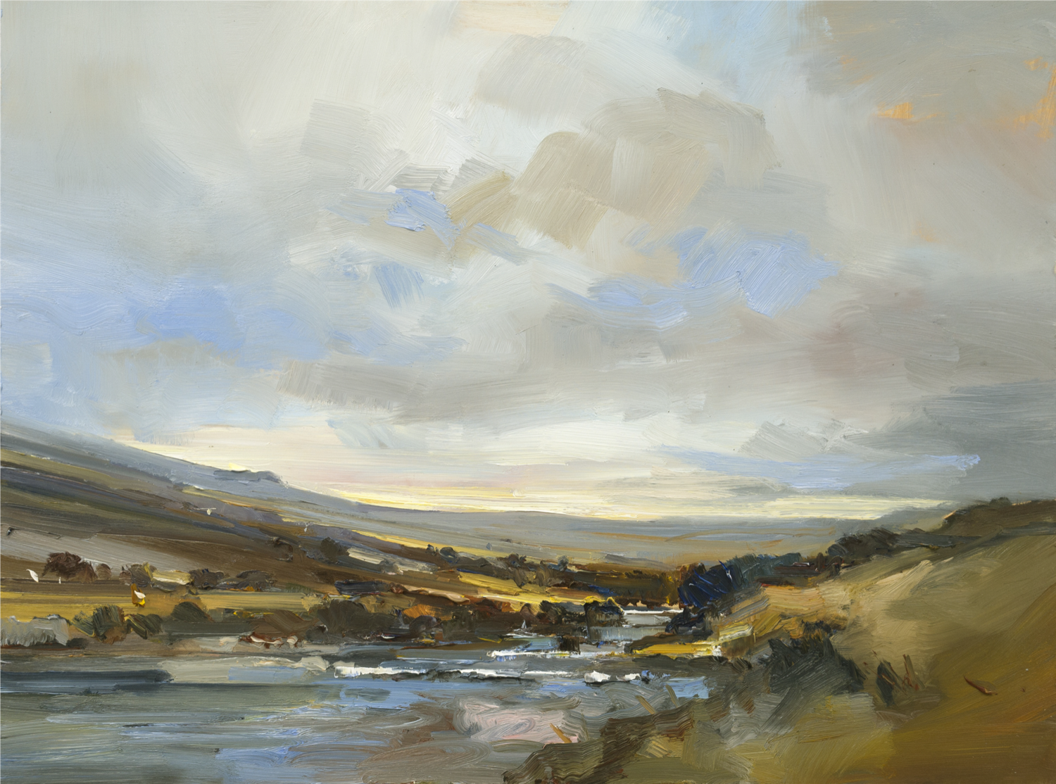 By a River on Dartmoor by David Atkins