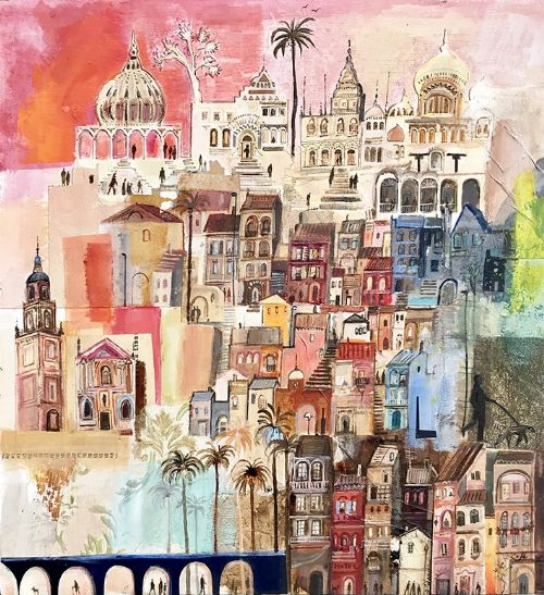 Emmie van Biervliet - Interwoven Streets of Colour, Menton