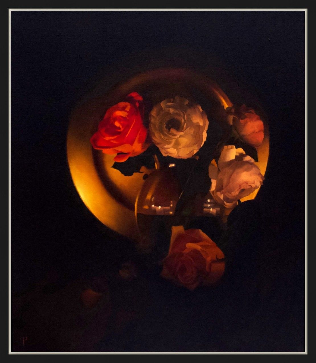 Flowers by Candlelight III by Chris Polunin