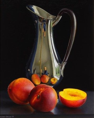 Jessica Brown - Still Life with Silver Jug and Nectarines