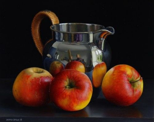 Jessica Brown -  Still Life with Silver Jug and Apples