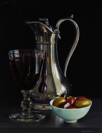 Jessica Brown -  Still Life with Claret and Olives