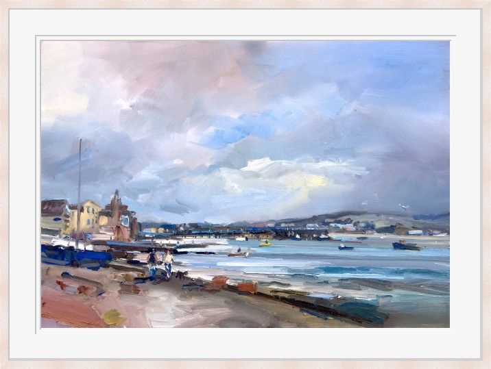 Looking Toward Swanage at the Pier by David Atkins