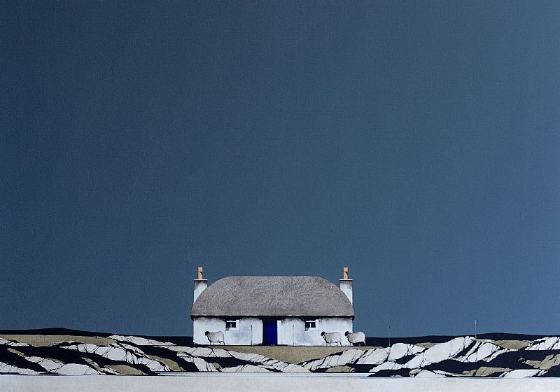 South Uist Thatched Cottage by Ron Lawson