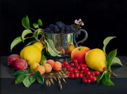 Jessica Brown - 17th Century Somerset Porringer with Fruit and Flowers