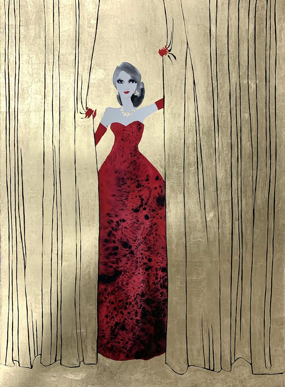 Red Dress, The Entrance by Bridget Davies